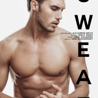 MODEL JABEL BALBUENA POSES FOR SWEAT